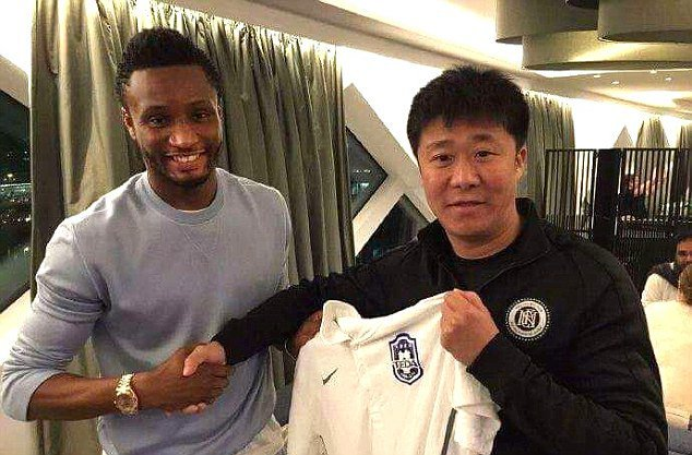 Mikel with his new team