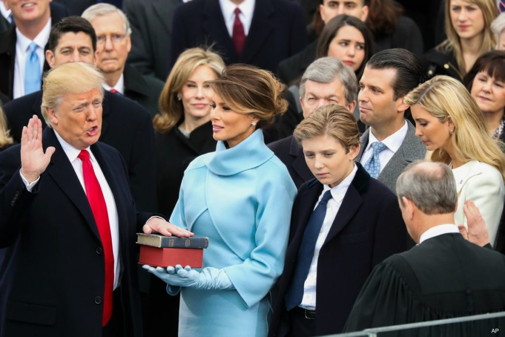 Trump takes oath of office