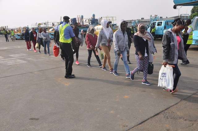 Nigerian immigrants deported from Libya (File photo)