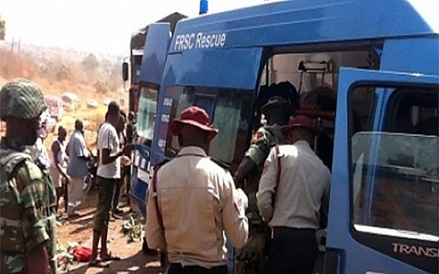 File photo: FRSC officials rescue victims at an accident scene