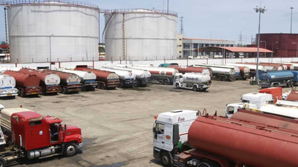 Petrol tankers at a depot: IPMAN threatens to stop distribution of petrol to depots in Eastern zone i