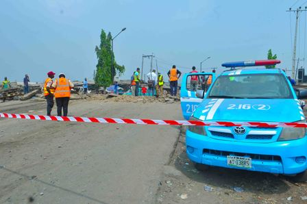 FILE PHOTO: Officials of the FRSC at the scene of an accident