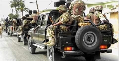 Nigerians soldiers on parade