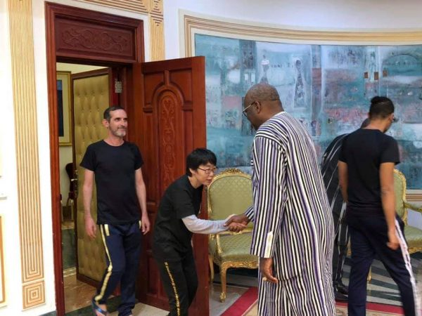 President Marc Roch Christian Kabore meets the South Korean freed hostage