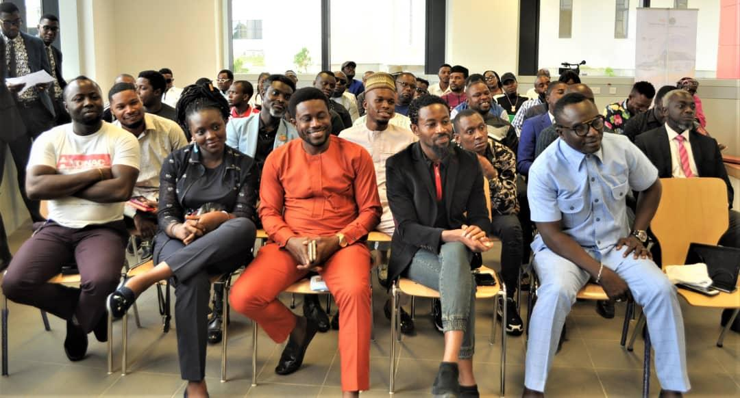 Members of the Creative Industry listening to the the acting EFCC chairman, Ibrahim Magu