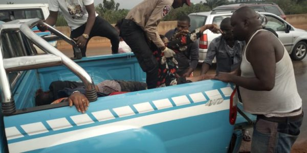 FILE: FRSC officials rescuing accident victims