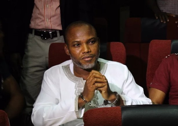 Nnamdi Kanu, leader of proscribed Indigenous People of Biafra, IPOB: Arrested by the Federal Government