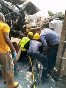 FILE:  Emergency workers rescuing the victims of accident in Nigeria.