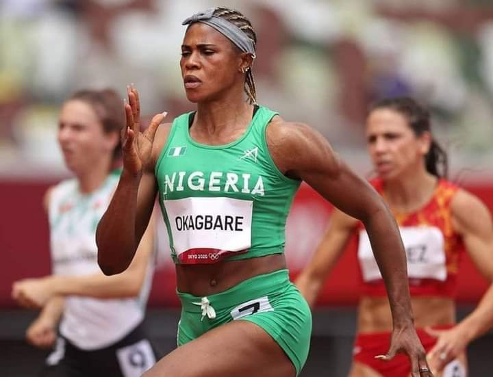 Okagbare: suspended from Tokyo Olympics