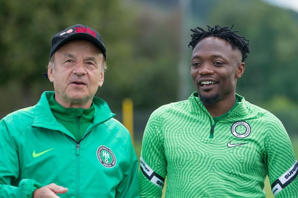 Rohr and Super Eagles captain, Ahmed Musa