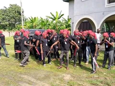 Members of the disbanded OSPAC security outfit