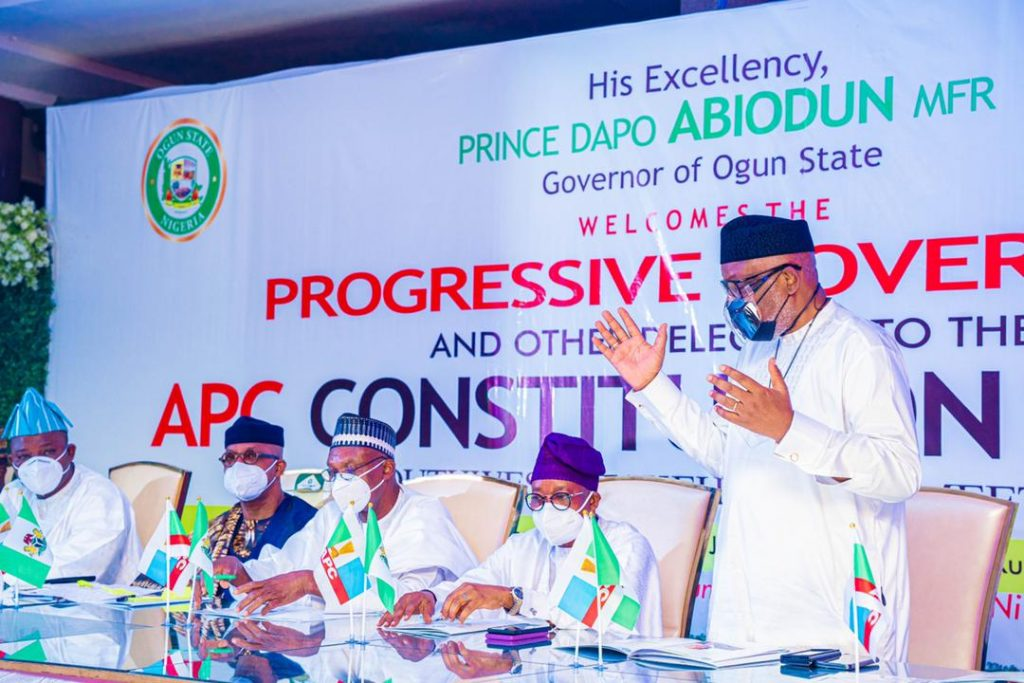 South-west APC Governors at the constitution review meeting