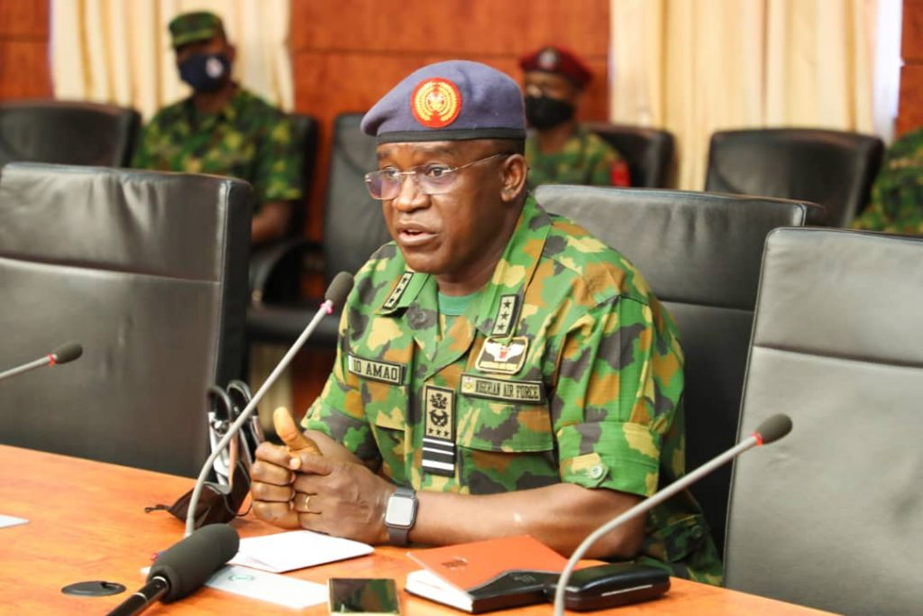 Chief of Air Staff, Air Marshal Oladayo Amao: says Service Chefs will submit to DHQ under the leadership of the Chief of Defence Staff (CDS), Gen. Lucky Irabor.