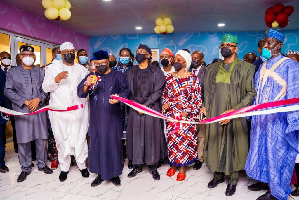 Minister of Health, Ehanire and others during the commissioning of the projects at the hospital