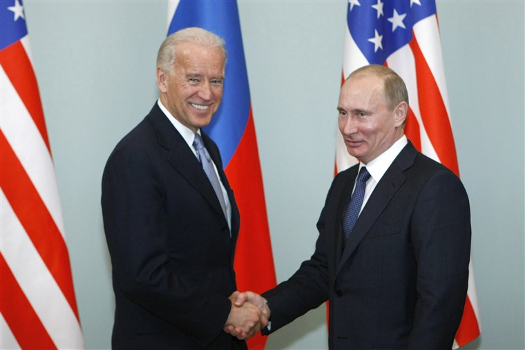 Biden and Putin: At each other's throat