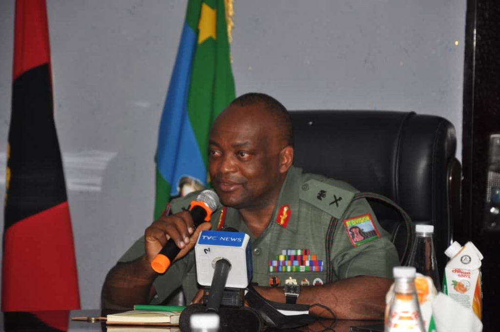 Gen. Lawrence Fejokwu, the General Officer Commanding (GOC), 81 Division of Nigeria Army, Lagos,