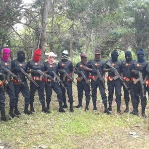 IPOB ESN members: suspected to be behind attacks on Correctional Centre and Police Headquarters in Owerri, Imo State