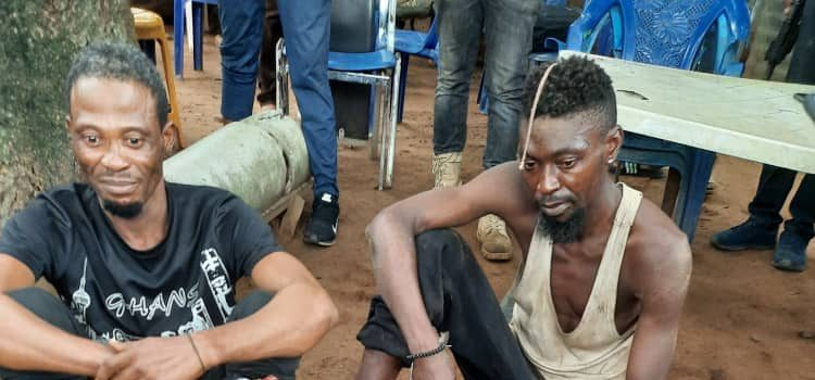 Some of the arrested IPOB commanders while Ikonso was killed