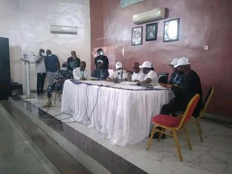 RSIEC announcing of local government Council results at their Secretariat in Port Harcourt