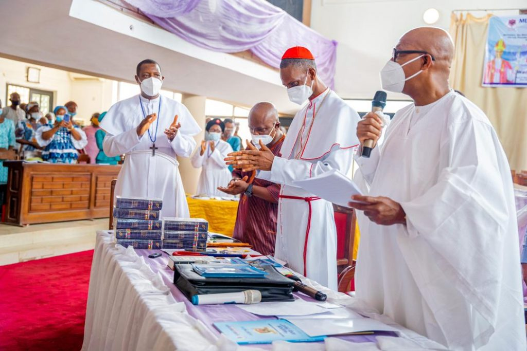 Governor Abiodun at the 13th Annual Synod of the Methodist Church, Nigeria, Diocese of Remo Central, held at the Methodist Church, Oke-Oja, Isara-Remo, on Thursday