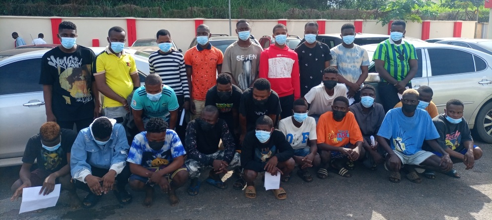 The internet fraudsters arrested in Owo