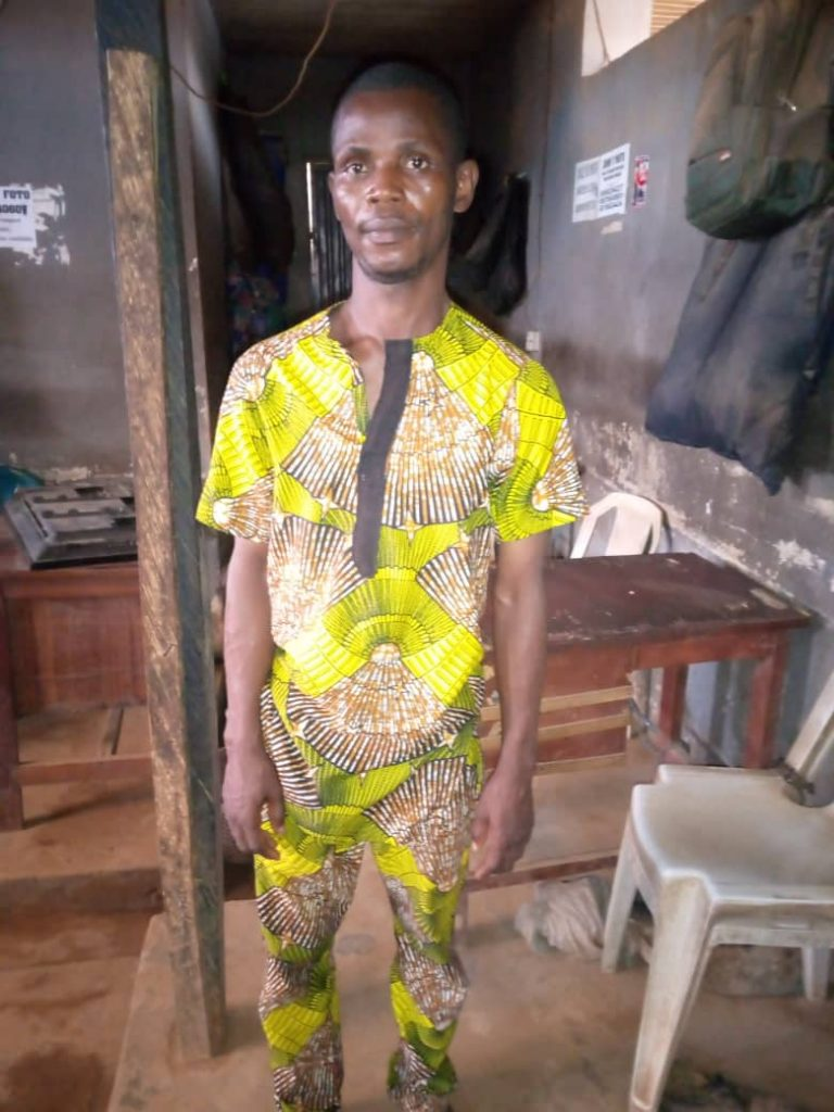 John Daniel: arrested for forcefully having carnal knowledge of a 30-yr-old lady