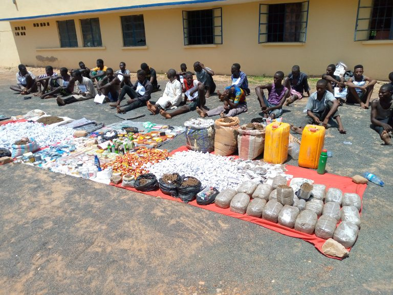 Some of the 52 suspects, who were members of various criminal gangs arrested by the Adamawa Police Command
