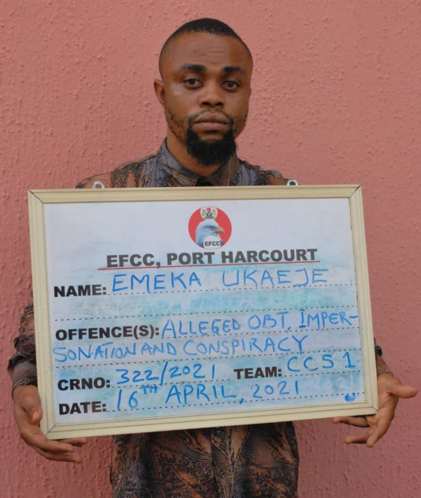 Ukaeje John Emeka: arrested leader of a syndicate selling and buying human organs for trafficking to foreigners.