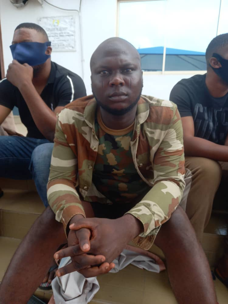 The 22-year-old former soldier, Jamiu and the other suspects