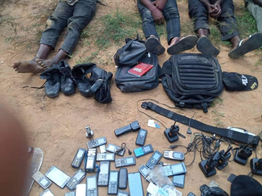 The Eastern Security Network, ESN, members arrested in Rivers and some of the items recovered from them