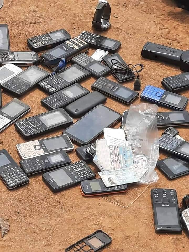 Phones recovered from ESN members