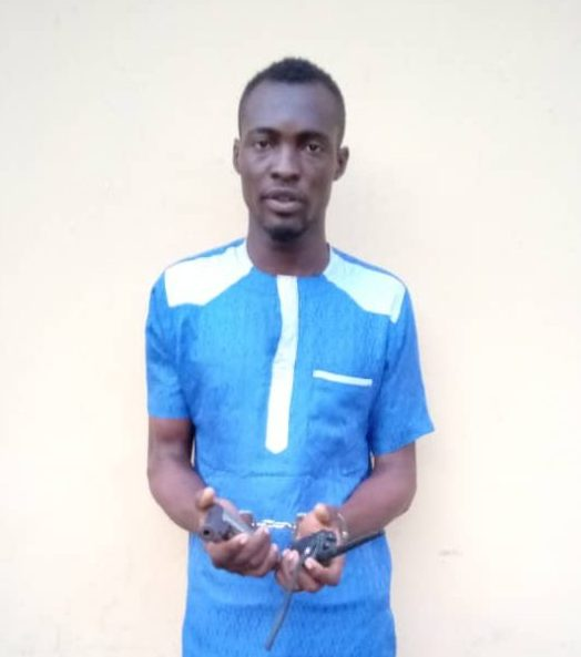 Omotayo Olaiya: arrested for threatening to kill a woman with a gun at Ebute-Metta area of Lagos.