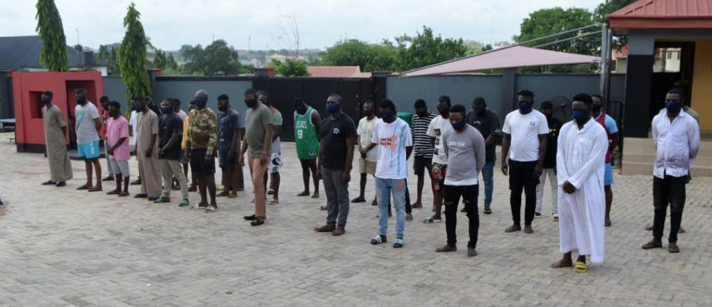 The other suspects arrested for internent fraud by EFCC in Osogbo