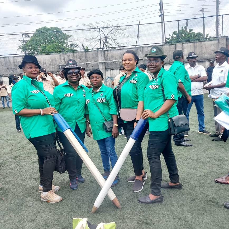 A Cross section of Journalists in the State were at the parade led by Stanley Job Stanley,Rivers State Chairman of NUJ carrying the symbolic Pen which is the tool trade.
