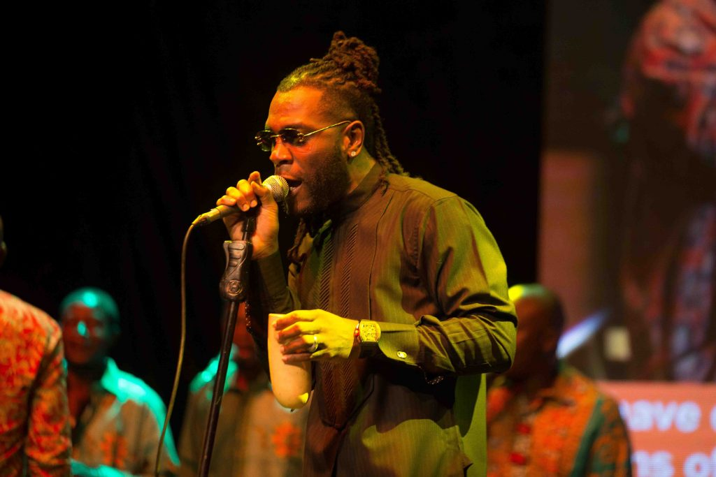Burnaboy performing one of Fela's Songs at the event