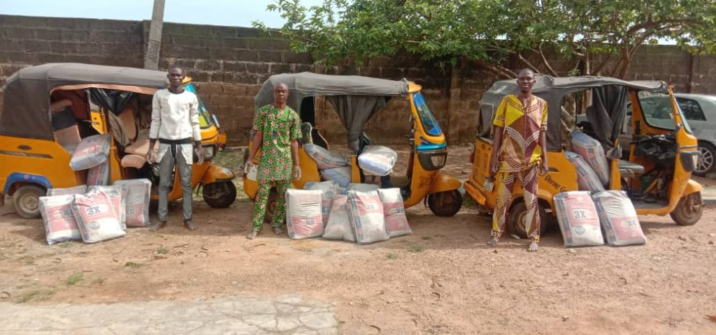 The alleged cement thieves