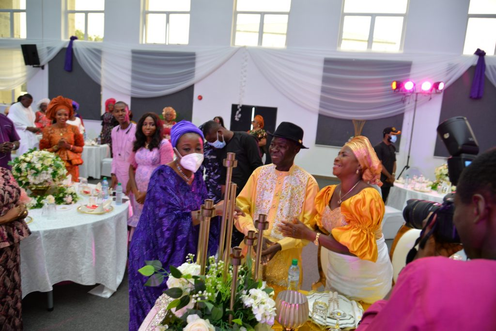 Mrs Obaseki and other guests at the occasion