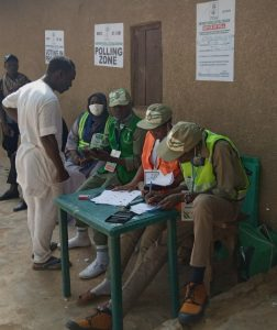 Electoral officers waiting for voters in Chikaji Ward During Sabon Gari bye election