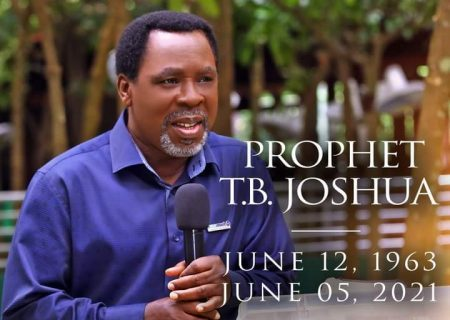 Prophet TB Joshua: confirmed dead by Synagogue Church