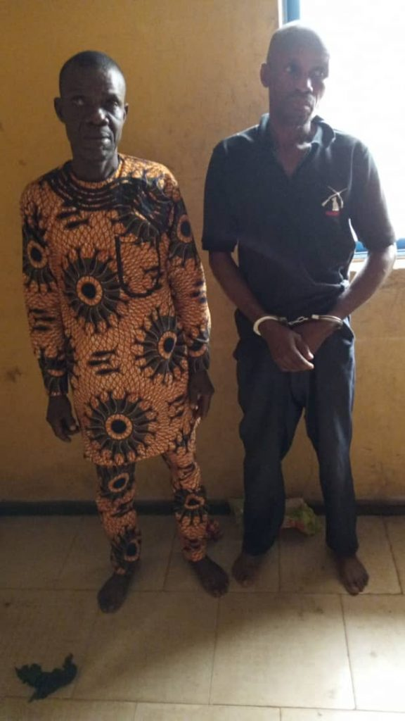 The hunters arrested for shooting youths during burial ceremony by the police in Edo