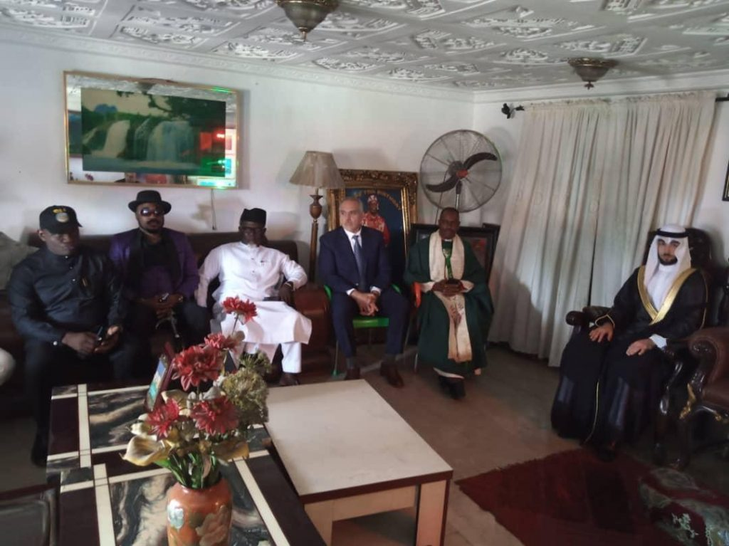 Delegation of global investors from Nigeria, Kuwait, Turkey, Dubai, United states of America(USA), Canada, Japan in courtesy visit to Palace of  King Godwin Giniwa, the leader of Supreme Council of Ogoni Traditional Rulers of Ogoni kingdom.