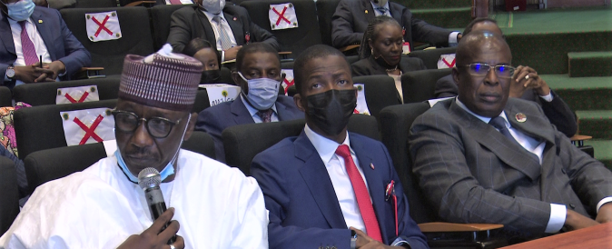 NNPC GMD, Kyari, EFCC Chairman, Bawa and Minister of state, Petroleum, Slyva at the meeting