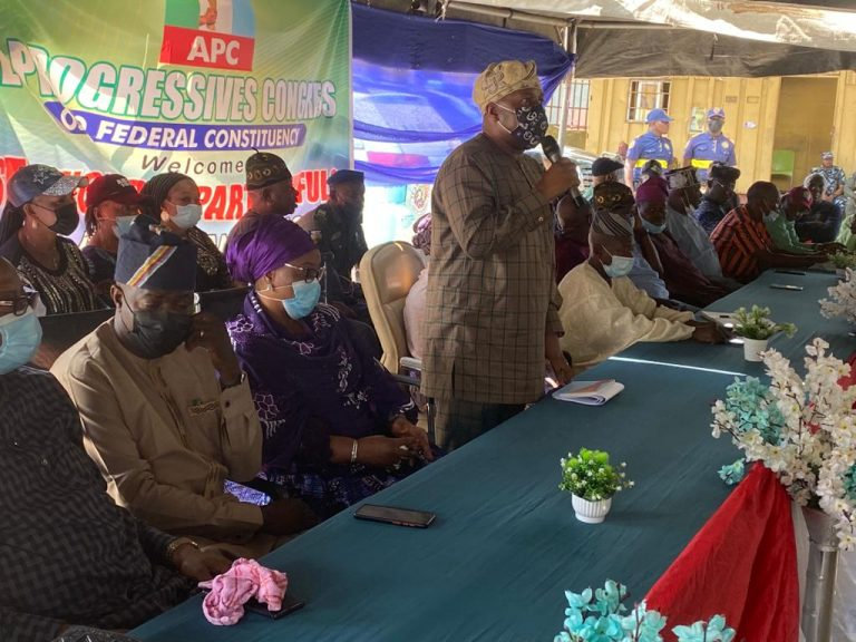 APC stakeholders at Ojo LGA during the stakeholders' meeting over the party's ward congress on Thursday in Lagos.