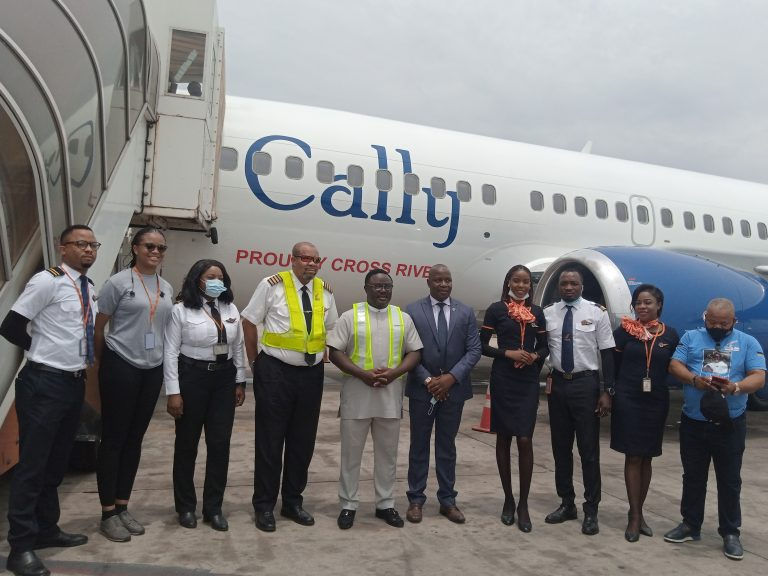 One of the planes handed over to Aero Contractors by the Cross River State government