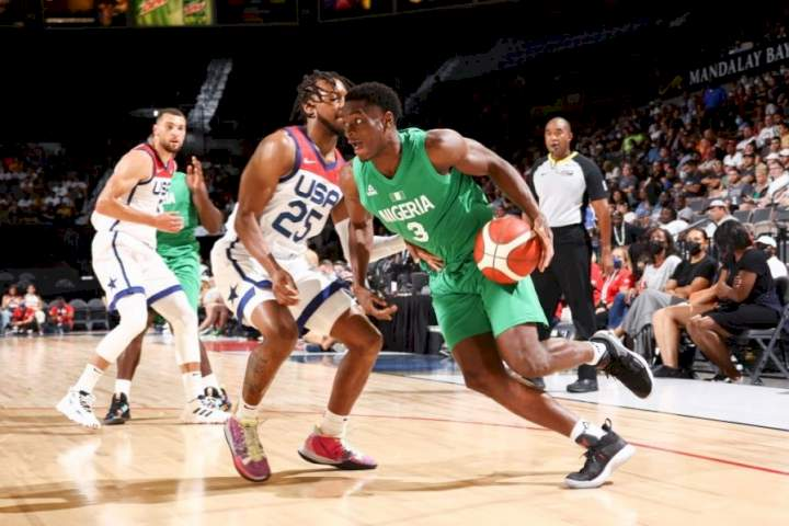D'Tigers in the game against the US basketball team