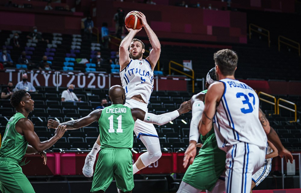 D'Tigers in the match against Italy