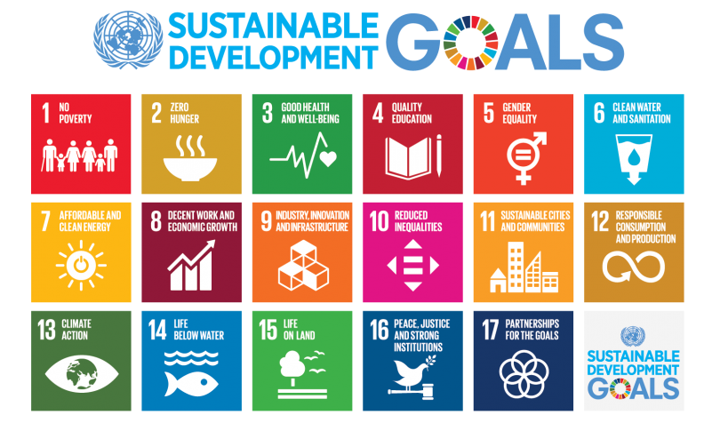 SDGs Poster:  UN Economic and Social Council (ECOSOC) says  developing countries require need 4.3 trillion dollars to realise the 17 objectives of the Sustainable Development Goals (SDGs)  by 2030