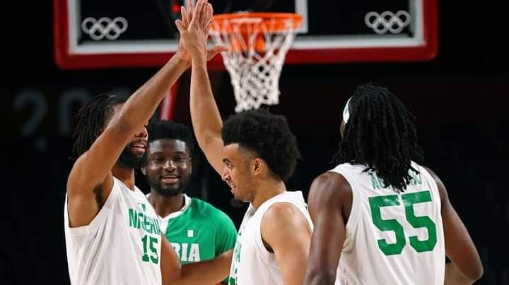 D'Tigers during the game with Germany at the ongoing Tokyo Olympics