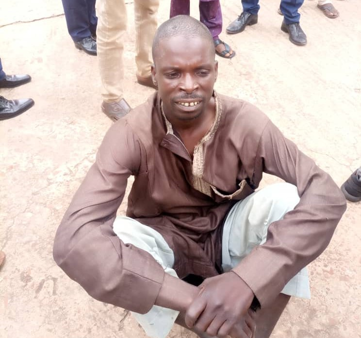 Bello Galaduma, a wanted notorious bandit arrested in Sokoto State.