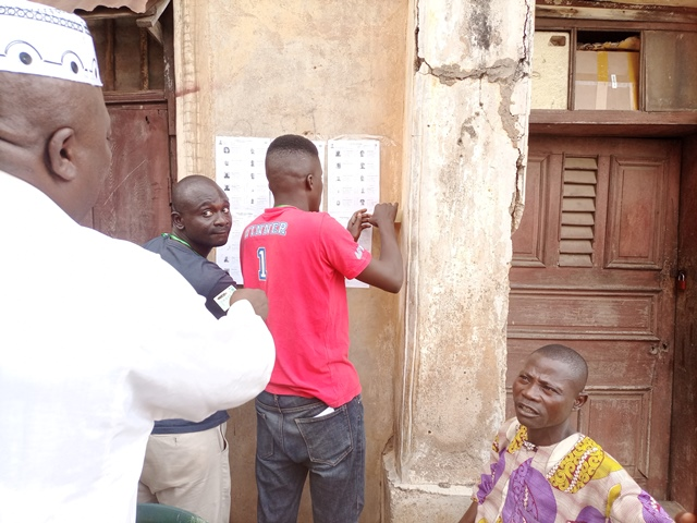 Presiding officers at Ogun local government election at work